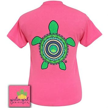 Girlie Girl Originals Preppy Mandala Turtle T-Shirt