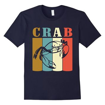 Vintage Style Crab T-Shirt Funny Crab Animal Lover Shirt