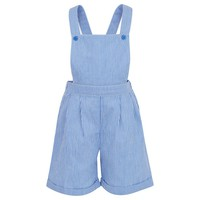 Blue & White Stripe Dungarees