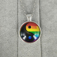 gay pride necklace same sex lgbt jewelry gay lesbian pride with rainbow love wins gift same sex marriage equal marriage