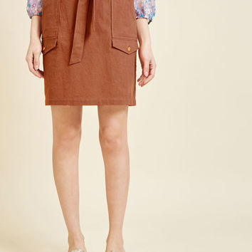 Flawless Knowledge A-Line Skirt