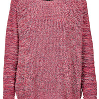 Knitted Mix Yarn Rib Jumper - Knitwear - Clothing - Topshop USA