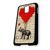 Elephant and heart shaped balloons Samsung Galaxy S5 Case