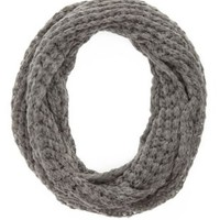 Gray Sweater Knit Cowl Scarf by Charlotte Russe