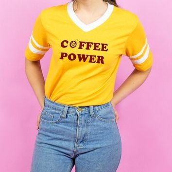 Coffee Power Varsity Tee