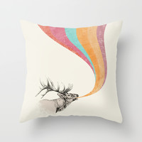 Elk Song Throw Pillow by Zeke Tucker