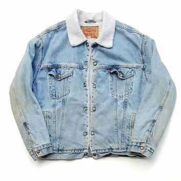 Levi's Sherpa Denim Jacket, Grunge, 90s Fashion, Back To School, Fall Jacket, Winter Jacket, AW16 17