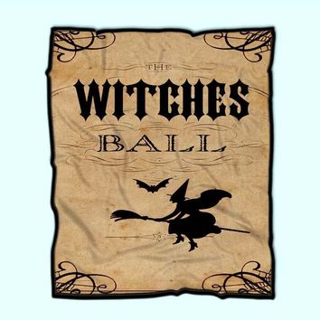 Witches Ball Vintage, Witches Ball, Witch,Witches Case, Harry Potter, Magic,New Jersey Fleece Blanket