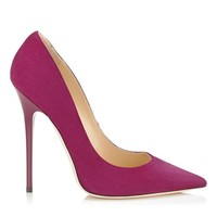 Dark Orchid Suede Pointy Toe Pumps | Anouk | Autumn Winter 14 | JIMMY CHOO Shoes