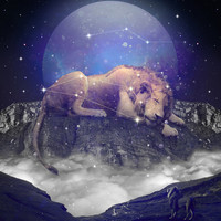 Under the Stars III (Leo) Art Print by Soaring Anchor Designs