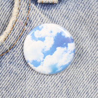 Cloud Print 1.25 Inch Pin Back Button Badge
