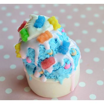 Bubble Gum Gummy Bear Ice Cream Polymer Clay Miniature Food Magnet