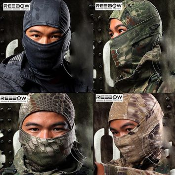 Outdoor Camouflage Tactical Balaclava Masks Military Paintball Full Face Airsoft Headwear Quick Dry Motorcycle Skiing Cycling