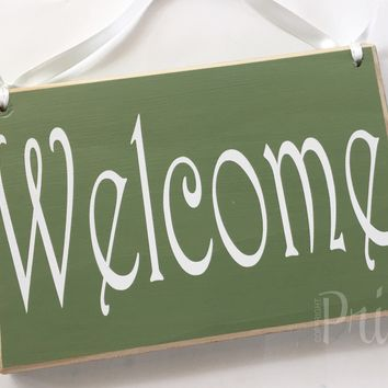 8x6 Welcome Wood Sign