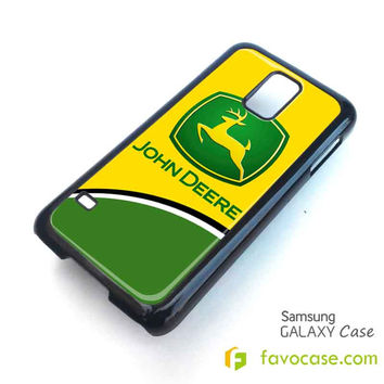 JOHN DEERE 2 Tractor Logo Samsung Galaxy S2 S3 S4 S5, Mini, Note, Tab Case Cover