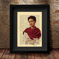 Frida, Frida Kahlo, Frida Kahlo Watercolor, Frida Kahlo Poster, Watercolor Print, Frida Kahlo Poster, Celebrity Portraits Wall Decor -53