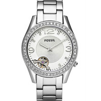 Fossil ME1107 Women's Silver Dial Stainless Steel Quartz Watch