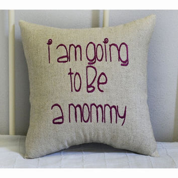 Expecting a baby, expecting parents pillow, expecting parentsgift , expecting gift pillow, expecting mom and dad gift, baby pillow