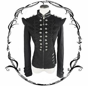 Women's Gothic Military Steampunk Jacket