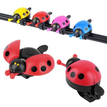 Hot Lovely Kid Beetle Ladybug Ring Bell For Cycling Bicycle Bike Ride Horn Alarm Red Blue Pink