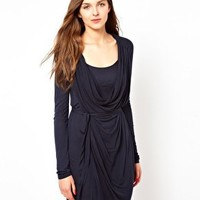 French Connection Millie Cowel Neck Dress at asos.com