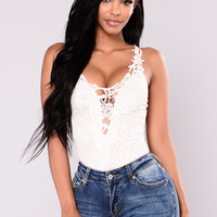 Turn Up On Me Bodysuit - Ivory