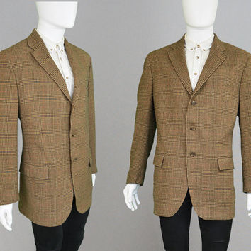 Vintage 80s RALPH LAUREN Polo Tweed Blazer Angora & Virgin Wool Blazer XL Xxl Tweed Jacket Sport Coat 1980s Suit Jacket Brown Designer