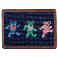 Dancing Bears Needlepoint Credit Card Wallet by Smathers & Branson