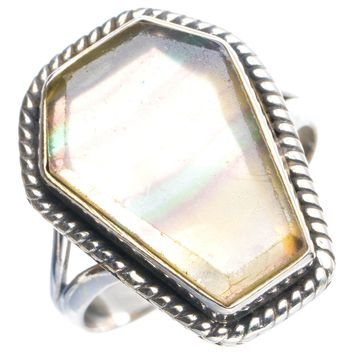 Natural Fluorite Handmade Unique 925 Sterling Silver Ring 8.75 Y4317