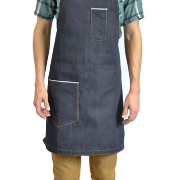The Jack Selvedge Denim Apron (Indigo)