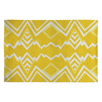Elisabeth Fredriksson Wicked Valley Pattern Yellow Woven Rug
