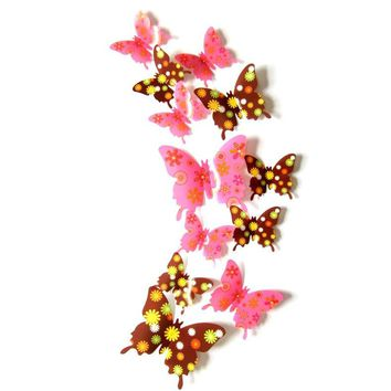 3D Butterfly Wall Sticker for Living Room 12 Pcs