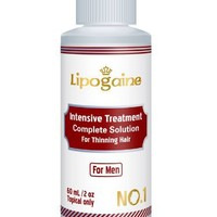 Lipogaine for Men: Minoxidil Enhanced with Azelaic Acid DHT Blocker, Biotin, Vitamin, Intensive Treatment & Complete Solution for Hair Loss / Thinning (For Men Only Formula) 30 days money back Guarantee | AihaZone Store