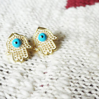 Evileye Hamsa Earrings hand of fatima best friend birthday unique gift women accessories for girl turkish arabic christmas gift for mothers