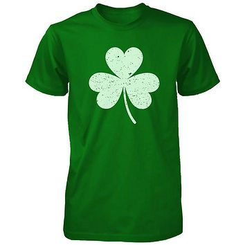 Distressed Shamrock Unisex Green Shirts Vintage Clover St Patricks Day Tees