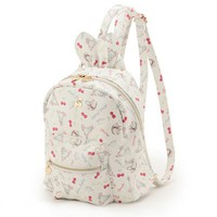 2017 Cute Bunny Ears Backpack Rabbit Ears Preppy Style Letter School Bag Zipper Pink Girl Synthetic Leather Cherry Backpack