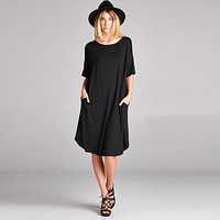 Relaxed Fit Dress with Pockets