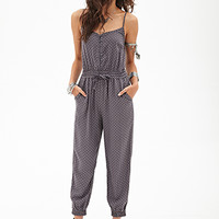 Buttoned Geo Jumpsuit