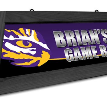 LSU Tigers Custom Pool Table Light