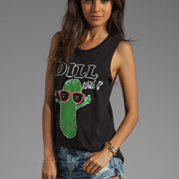 Local Celebrity Dill With It Muscle Tee in Black from REVOLVEclothing.com