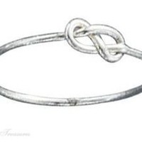 Sterling Silver Infinity Symbol Knot Ring Size 7