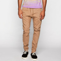 House Of Triot Mens Twill Jogger Pants Tan  In Sizes