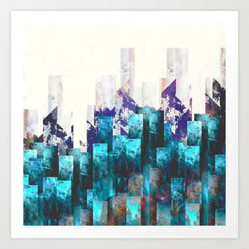 Cold cities Art Print by HappyMelvin
