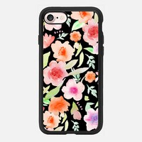 Spanish flowers at night iPhone 7 Carcasa by Julia Grifol Diseñadora Modas-grafica | Casetify