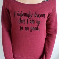 "Harry Potter Marauders map inspired ""I solemnly swear that I am up to no good"" slouch sweatshirt"