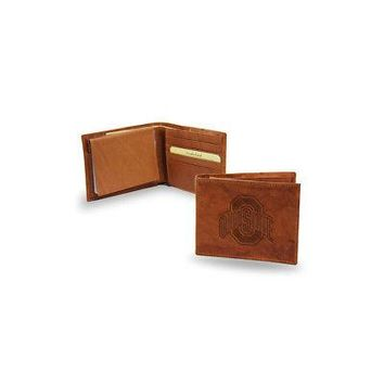 Licensed Ohio State Buckeyes Official NCAA Leather Billfold Wallet OSU by Rico Industries KO_19_1