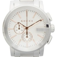 Men's Gucci 'G' Chronograph Bracelet Watch, 42mm