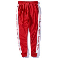 Supreme Women or Men Fashion Casual Loose Pants Trousers