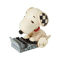 Jim Shore Peanuts Snoopy Typing Mini Resin Figurine New with Box