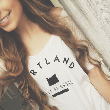 Women's Flowy Portland Oregon Tee